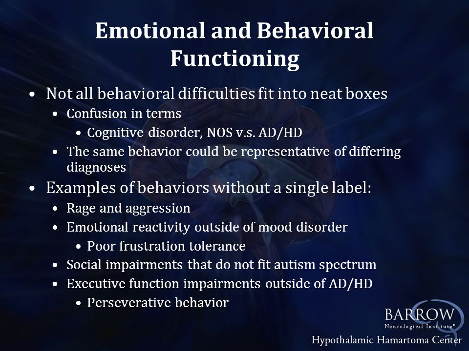 Behavioral Treatments Autism Applied Behavioral Analysis (ABA) Provided in home and school Intensive works best (20+ hours per week) Earlier intervention is better Treatment and Education of Autistic and Related Communication Handicapped Children (TEACCH) Also rooted in behavioral intervention Focuses on underlying deficits that contribute to behavior