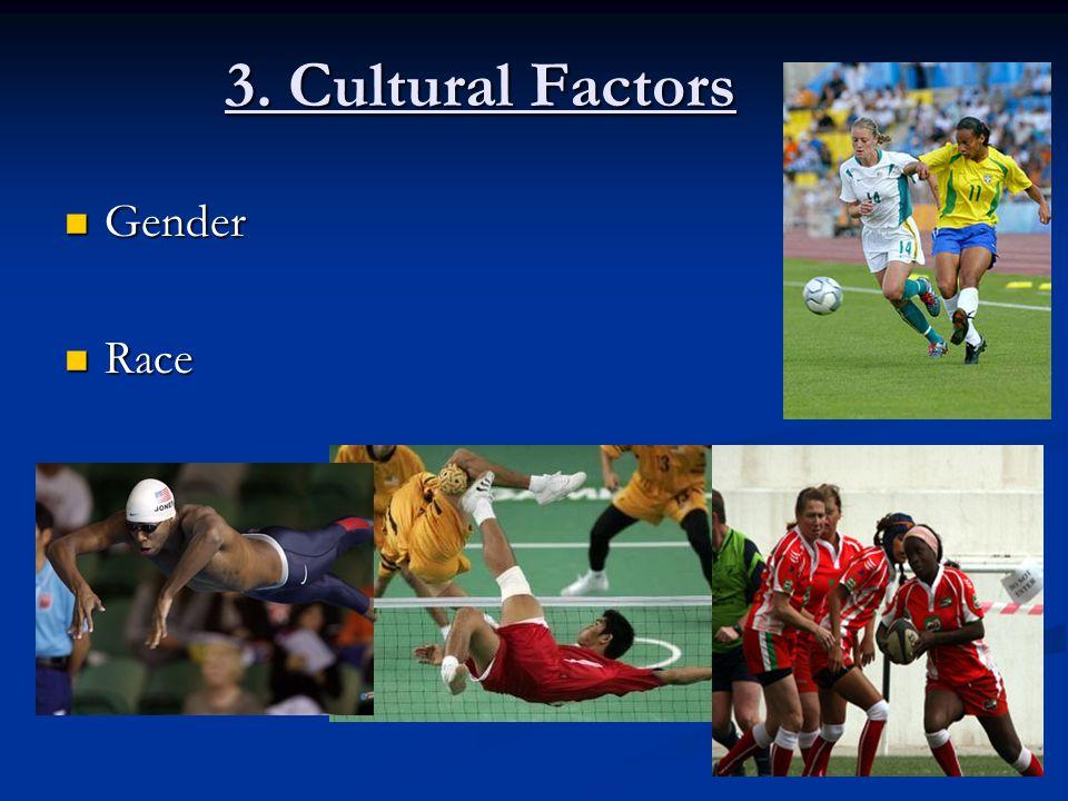 3. Cultural Factors Gender Gender Race Race
