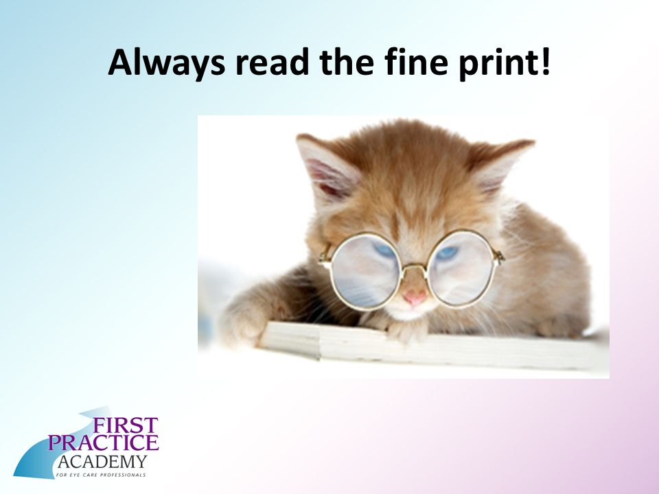 Always read the fine print!