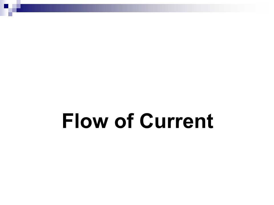 Flow of Current