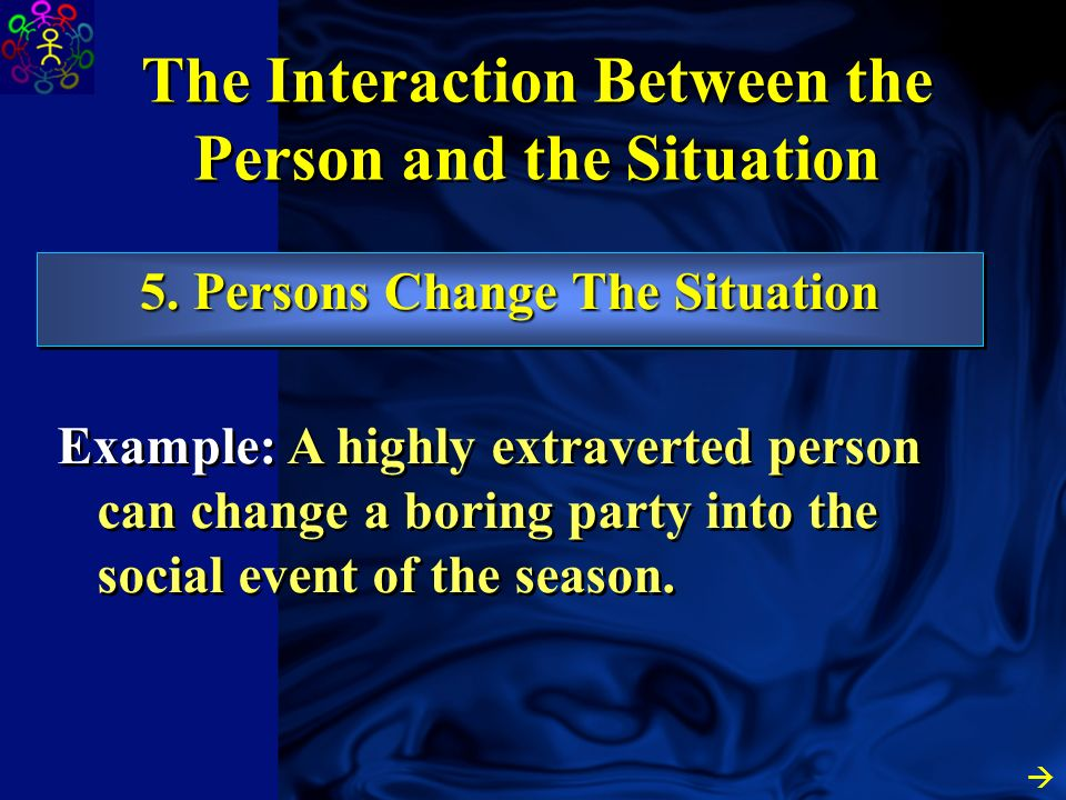 4. Different Situations Prime Different Parts of the same Person The Interaction Between the Person and the Situation Example: Around your professor,