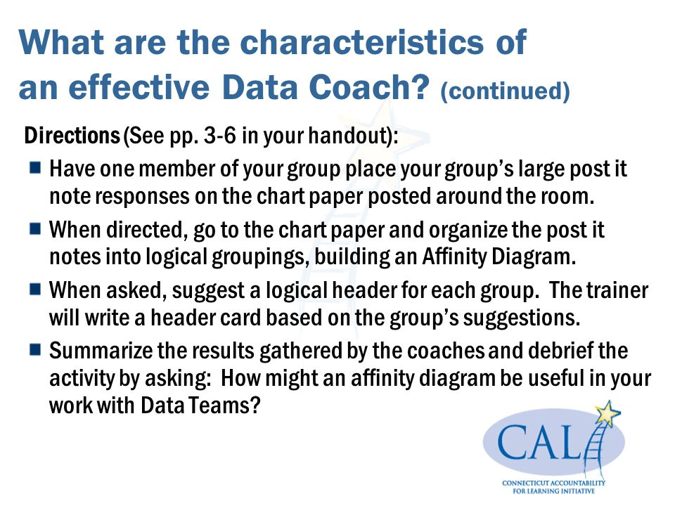 What are the characteristics of an effective Data Coach.