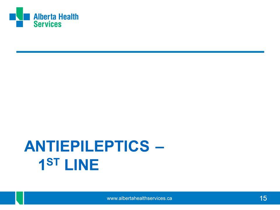 15 ANTIEPILEPTICS – 1 ST LINE