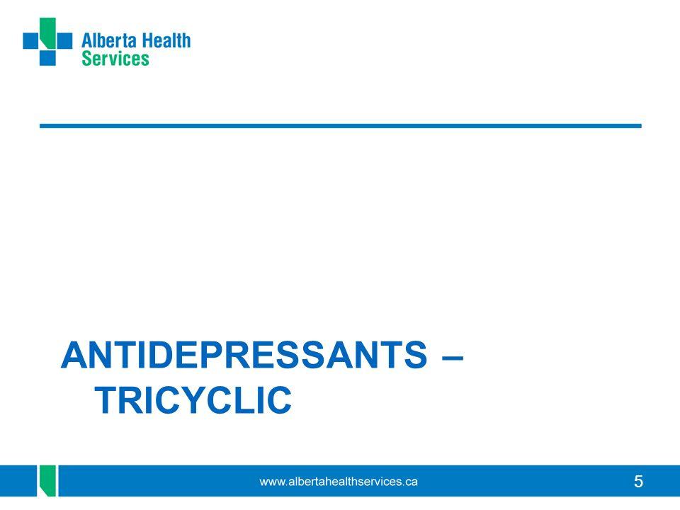 5 ANTIDEPRESSANTS – TRICYCLIC