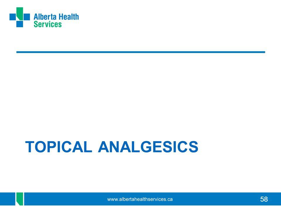 58 TOPICAL ANALGESICS