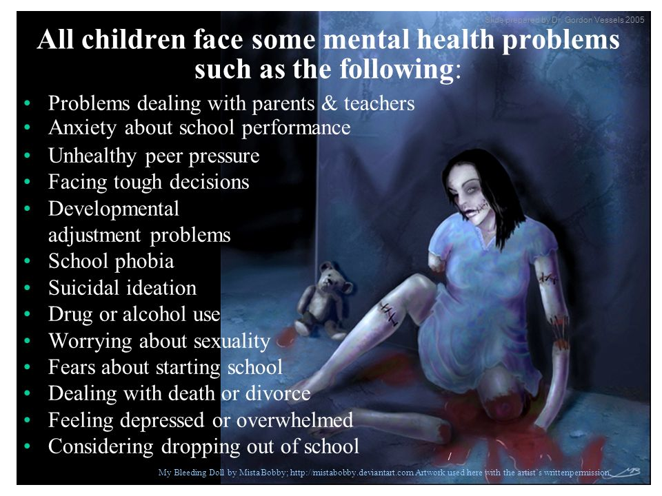 Problems dealing with parents & teachers Anxiety about school performance Unhealthy peer pressure Facing tough decisions Developmental adjustment prob