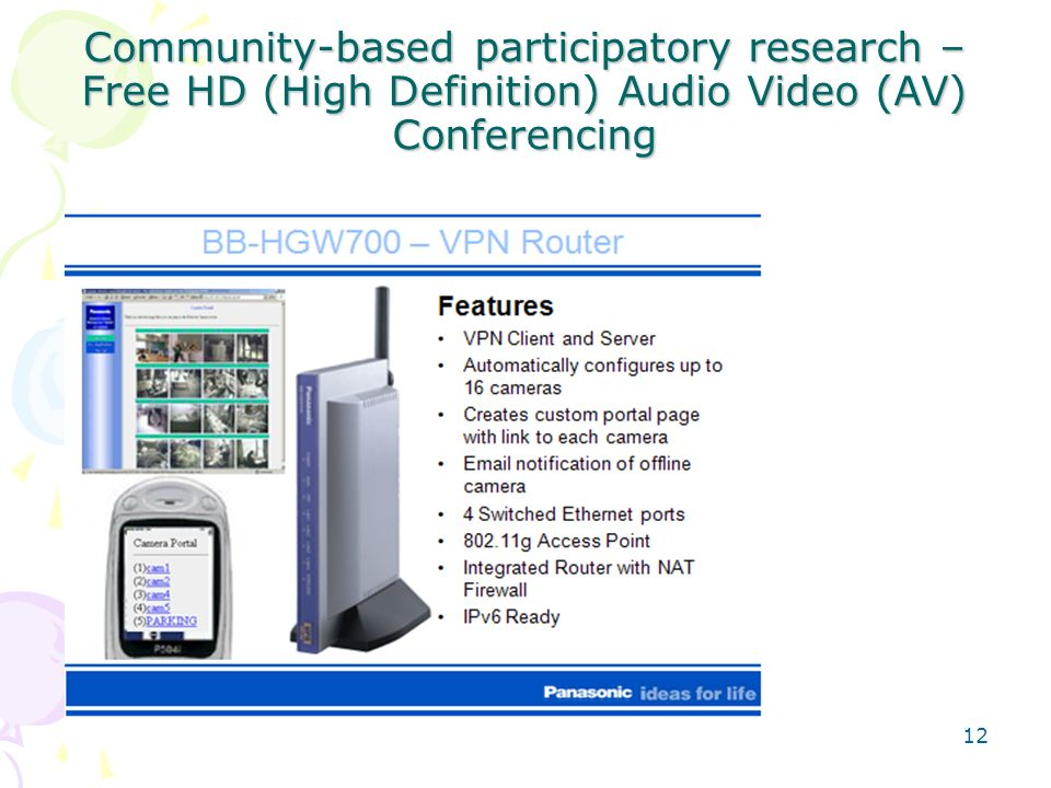 Community-based participatory research – Free HD (High Definition) Audio Video (AV) Conferencing 12