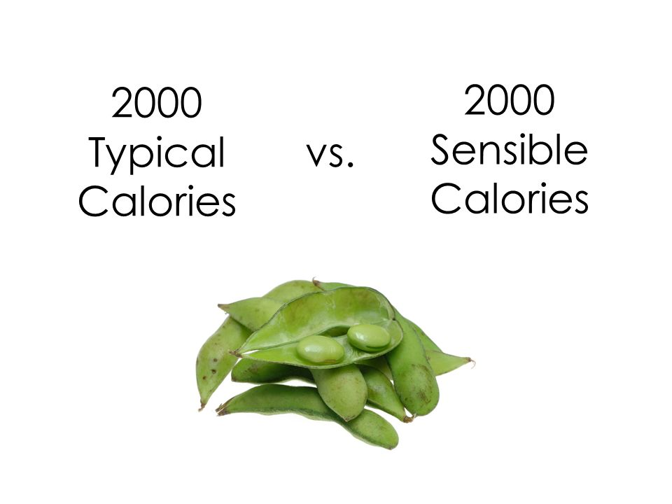 2000 Typical Calories vs. 2000 Sensible Calories