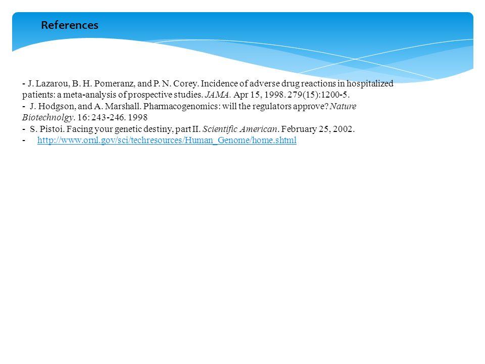 References - J. Lazarou, B. H. Pomeranz, and P.