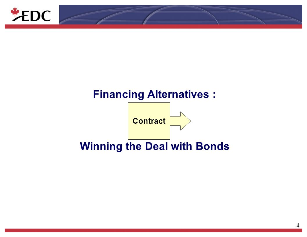 4 Financing Alternatives : Winning the Deal with Bonds t Contract