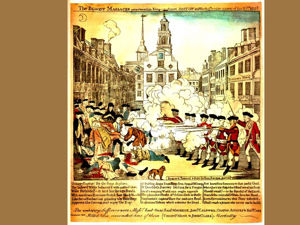 Vus4c cont. The beginning of the American Revolution Resistance to British rule in the colonies mounted, leading to war: The Boston Tea Party occurred