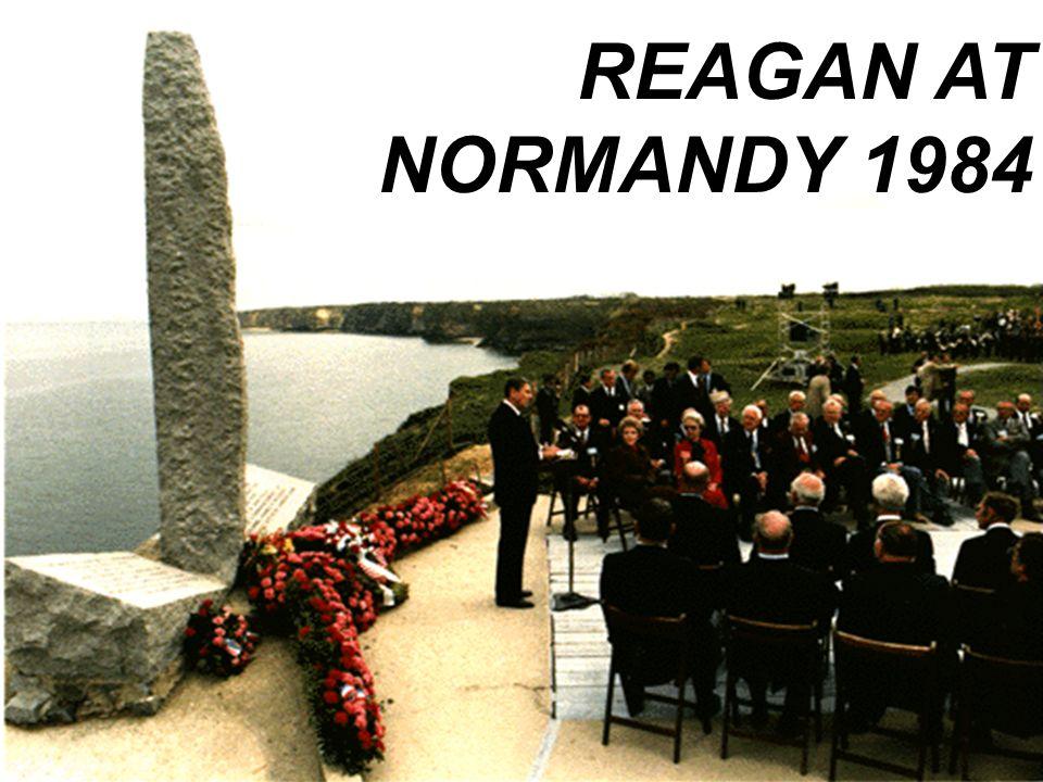 REAGAN AT NORMANDY 1984