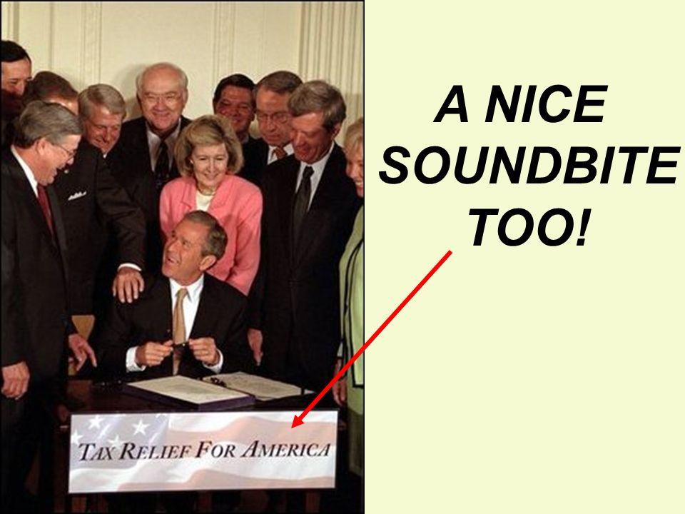 A NICE SOUNDBITE TOO!