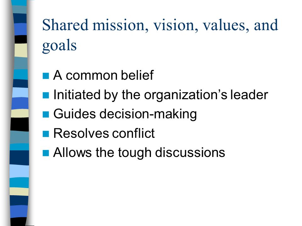Collaborative teams Focus on the team Team oriented recognition If the team succeeds, I succeed