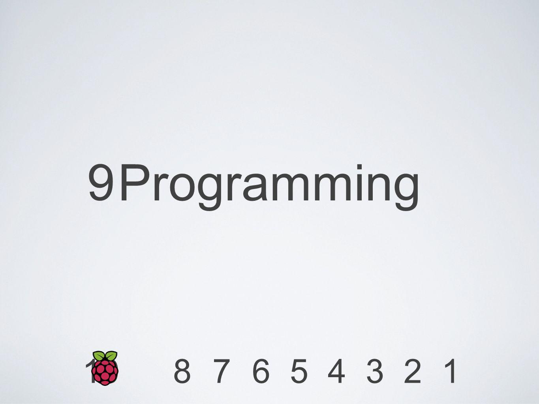 9 Programming 1234567810