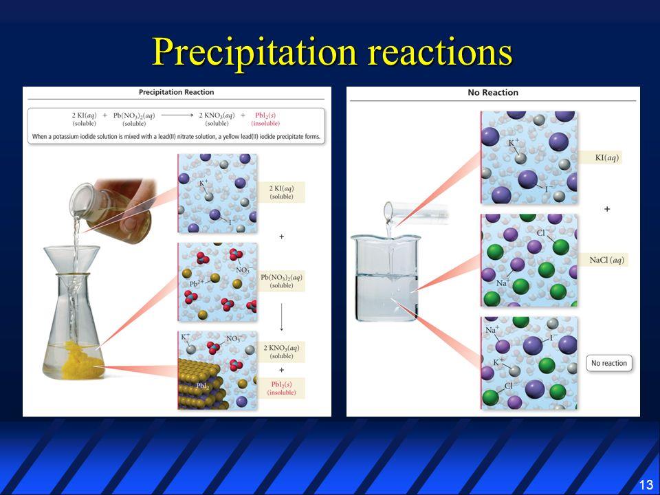 13 Precipitation reactions