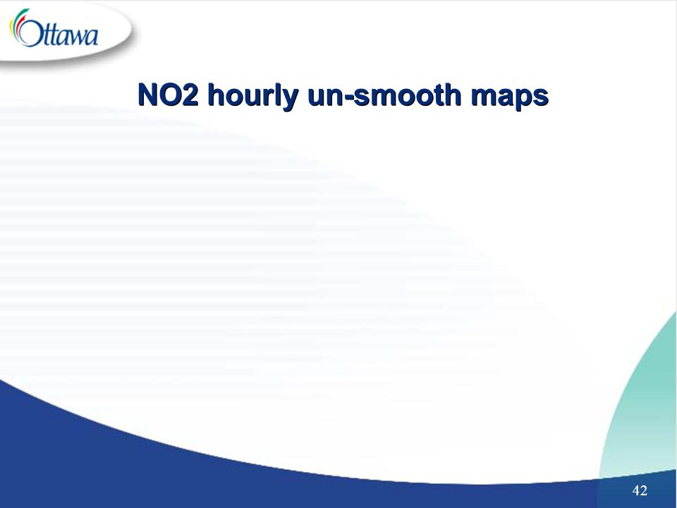 42 NO2 hourly un-smooth maps