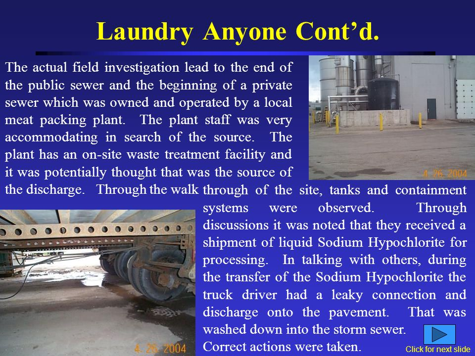 Laundry Anyone Contd. Doing a quick desktop map survey concluded that the drainage basin was relatively small but included commercial and industrial f