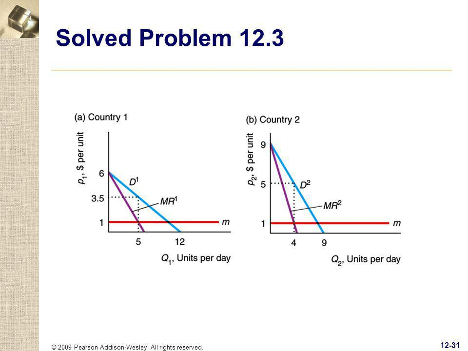 © 2009 Pearson Addison-Wesley. All rights reserved. 12-31 Solved Problem 12.3