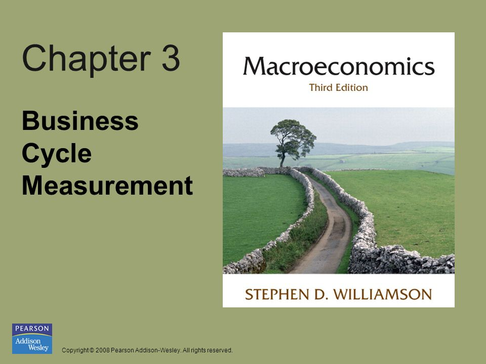 Copyright © 2008 Pearson Addison-Wesley. All rights reserved. Chapter 3 Business Cycle Measurement