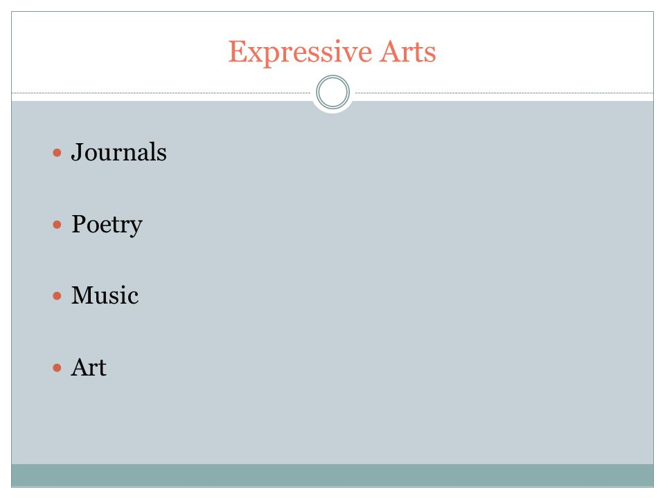 Expressive Arts Journals Poetry Music Art