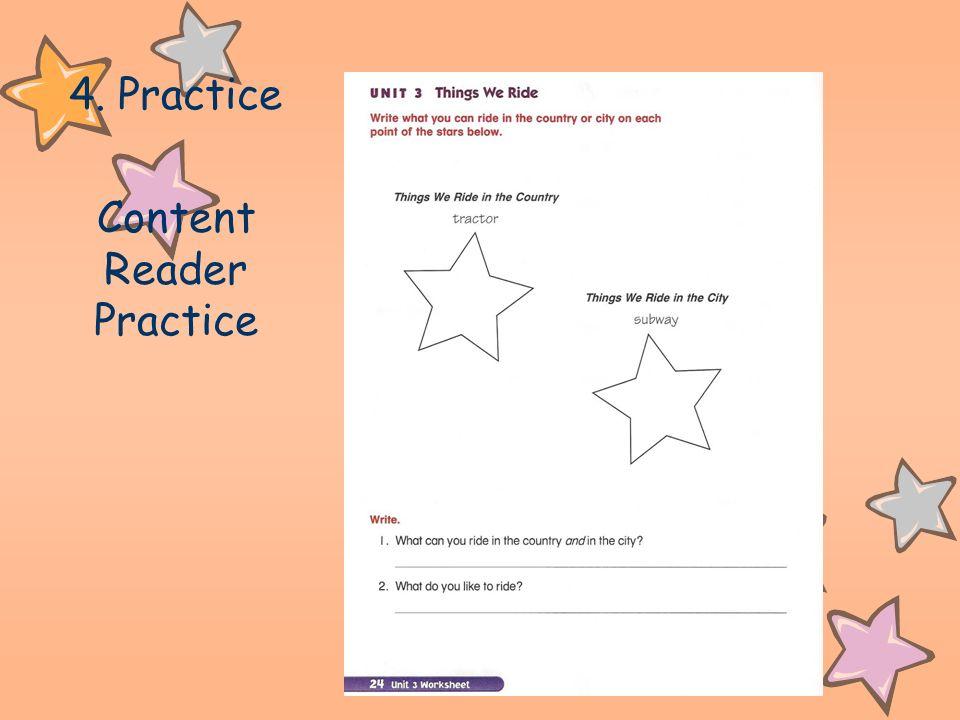 4. Practice Content Reader Practice