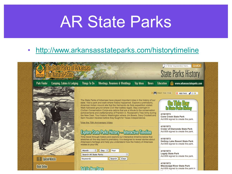 AR State Parks http://www.arkansasstateparks.com/historytimeline