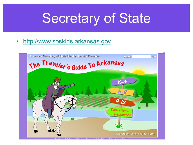Secretary of State http://www.soskids.arkansas.gov