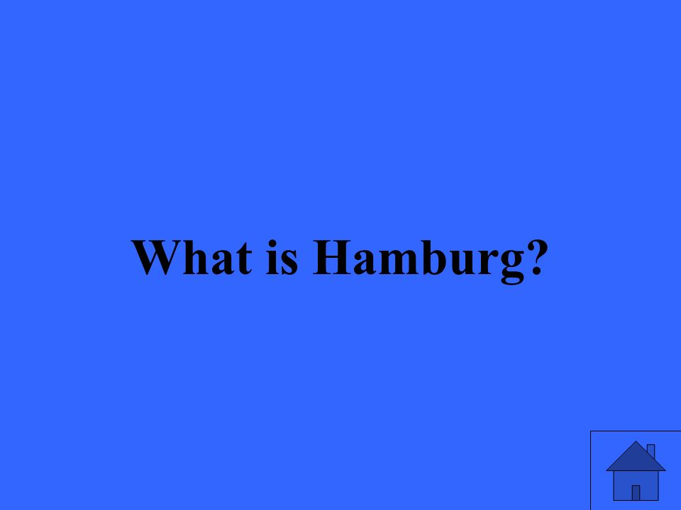 What is Hamburg?