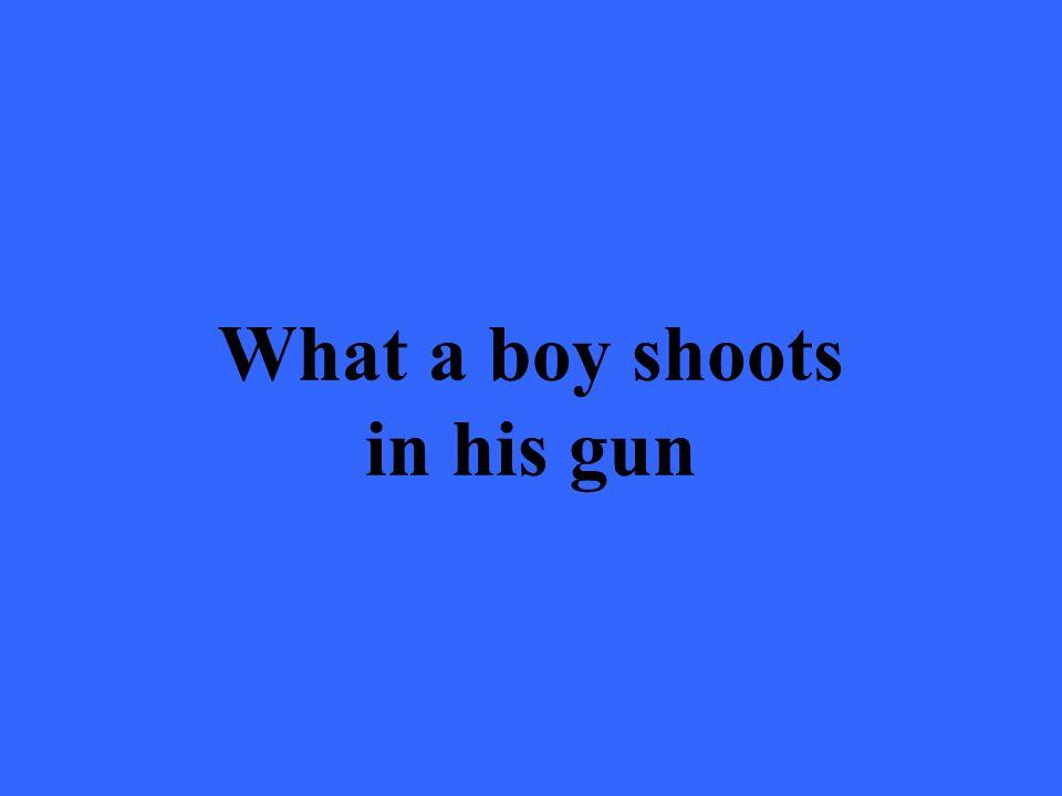 What a boy shoots in his gun