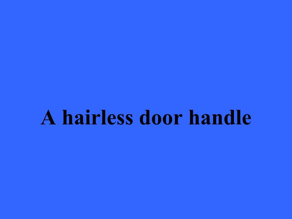 A hairless door handle