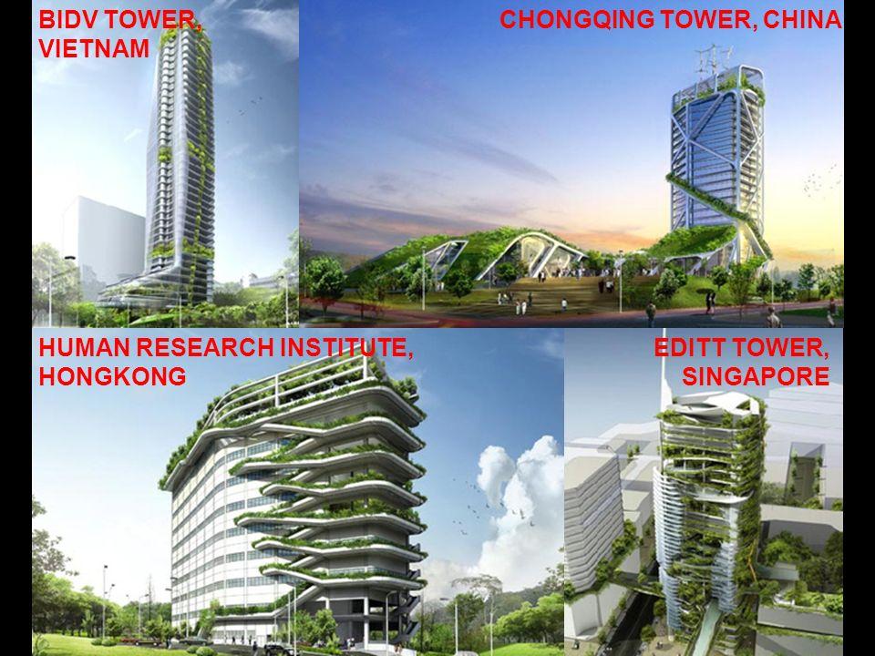 EDITT TOWER, SINGAPORE CHONGQING TOWER, CHINA HUMAN RESEARCH INSTITUTE, HONGKONG BIDV TOWER, VIETNAM