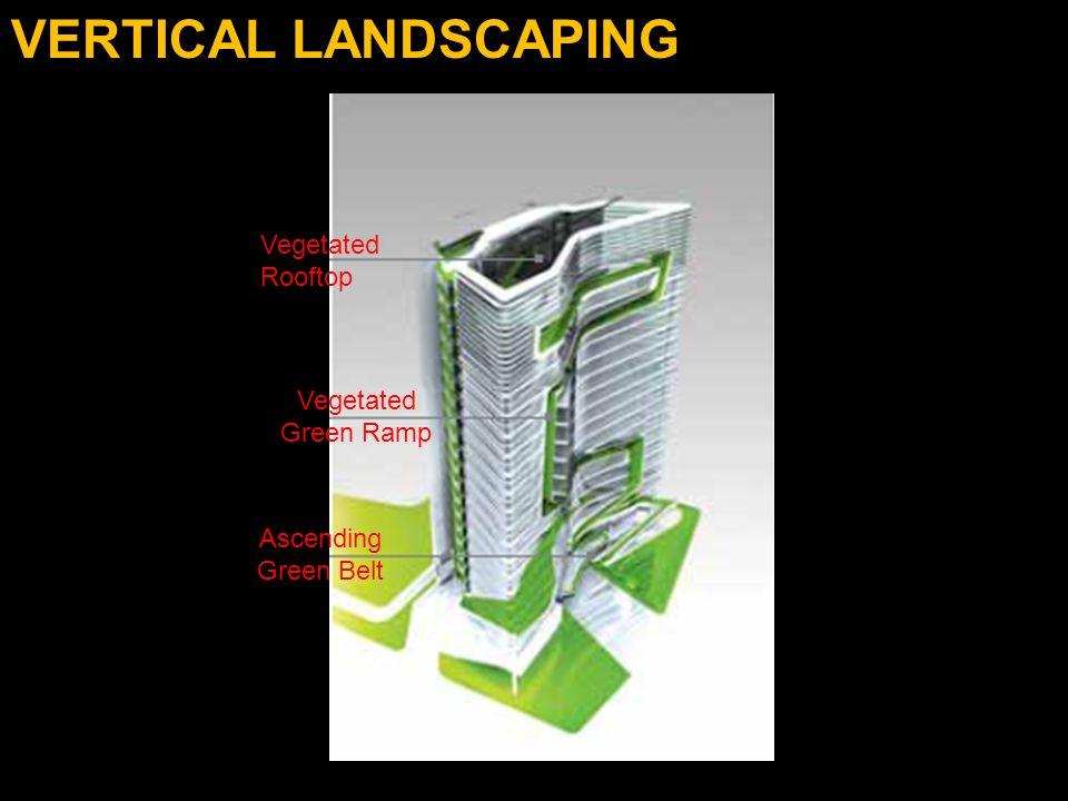 VERTICAL LANDSCAPING Vegetated Rooftop Vegetated Green Ramp Ascending Green Belt