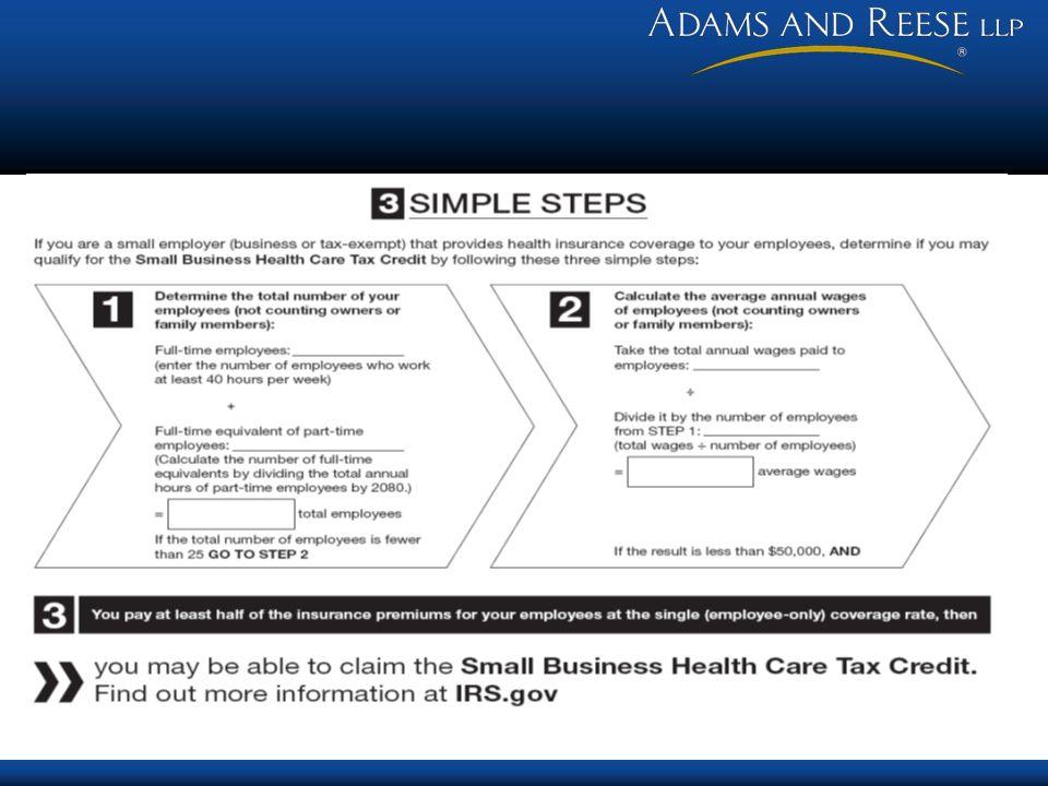 Tax Credit Scenario 1