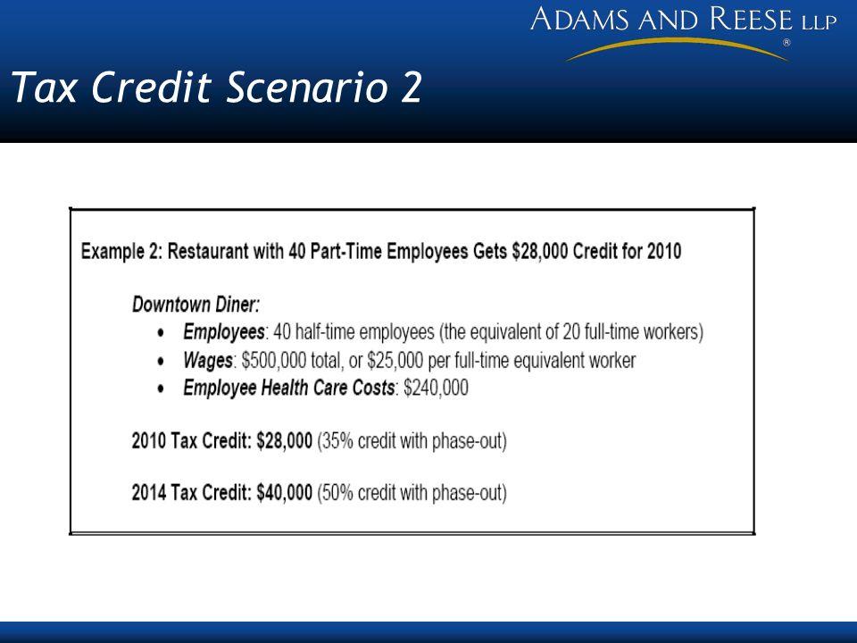 Tax Credit Scenario 2