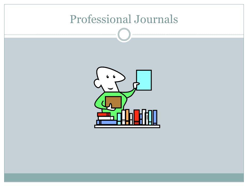 Professional Journals