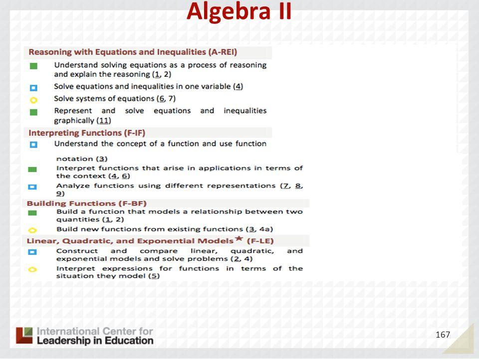 Algebra II 167