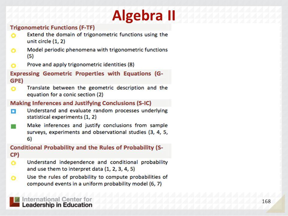 Algebra II 168