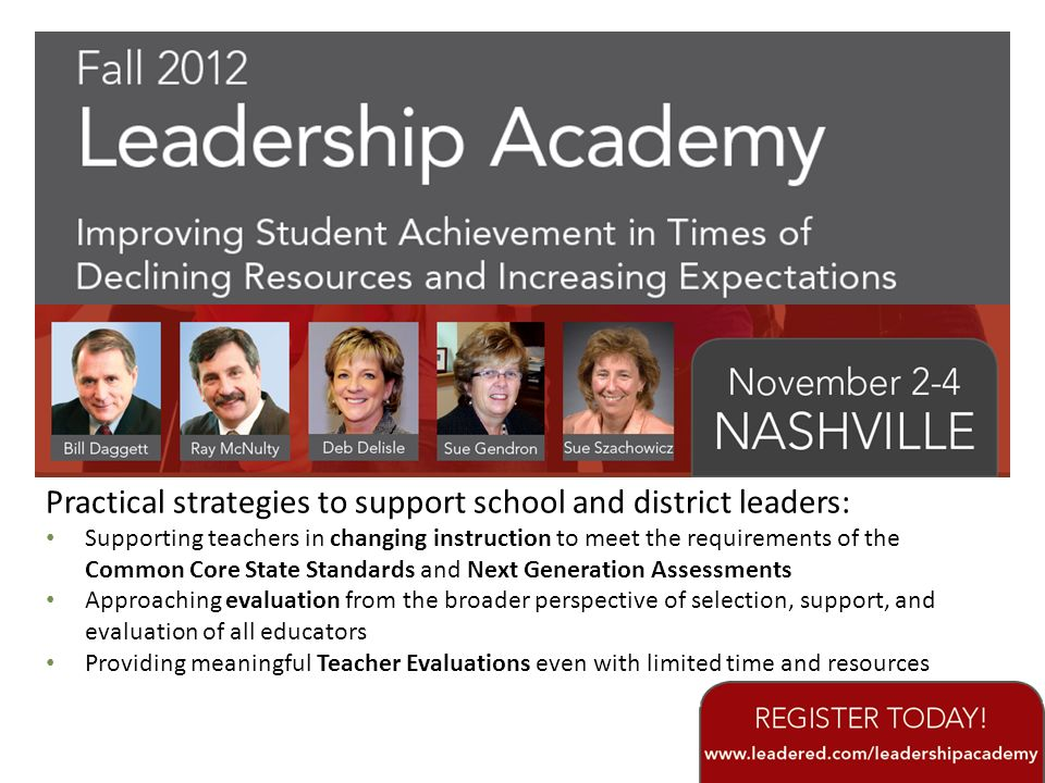 Practical strategies to support school and district leaders: Supporting teachers in changing instruction to meet the requirements of the Common Core S