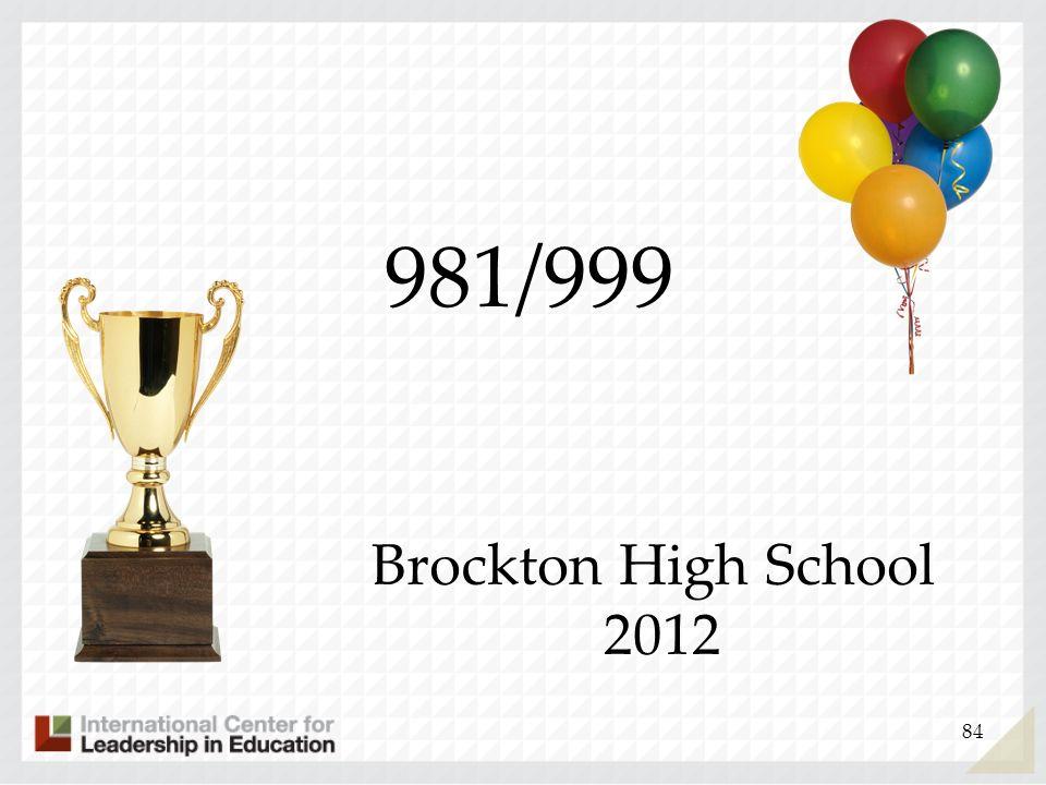 84 981/999 Brockton High School 2012