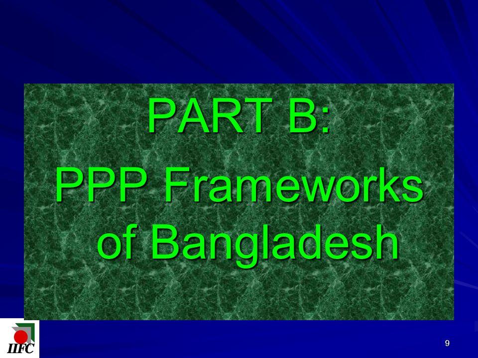 PART B: PPP Frameworks of Bangladesh 9