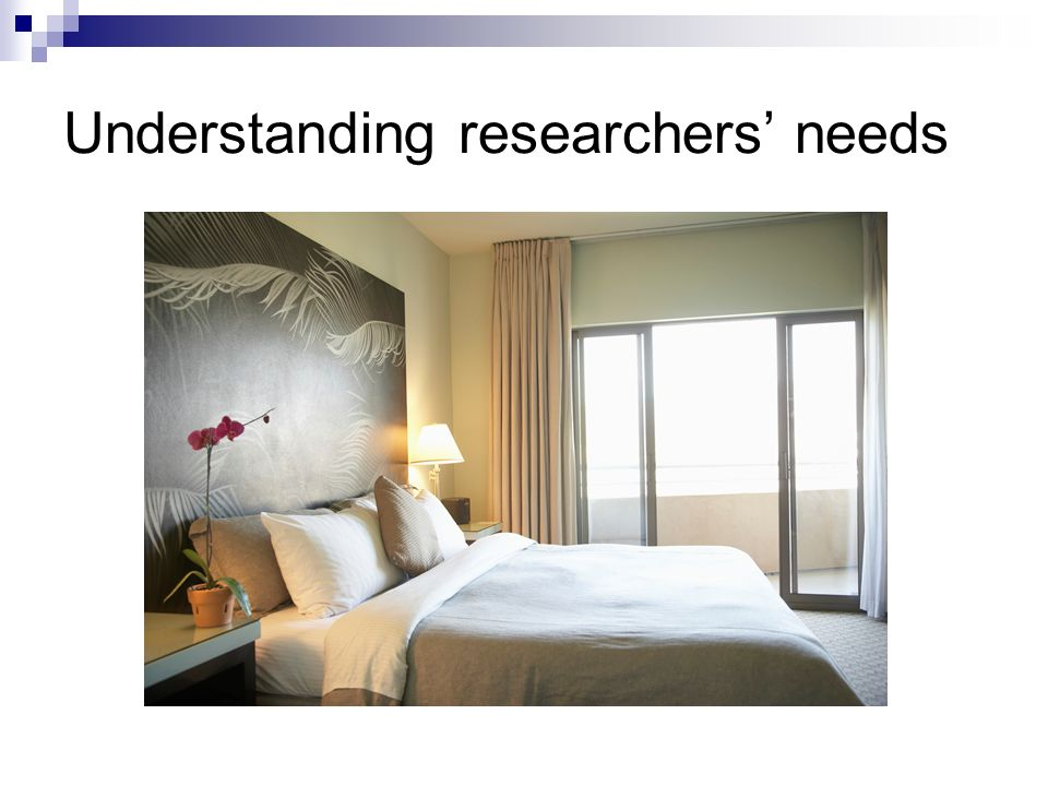 Understanding researchers needs
