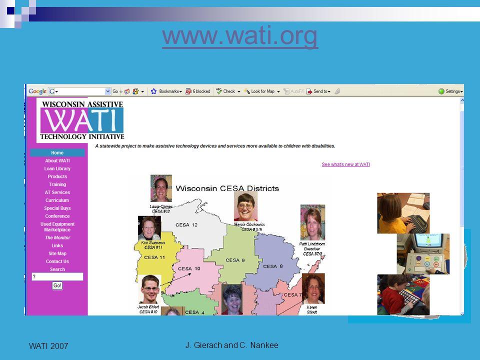 J. Gierach and C. Nankee WATI 2007 www.wati.org