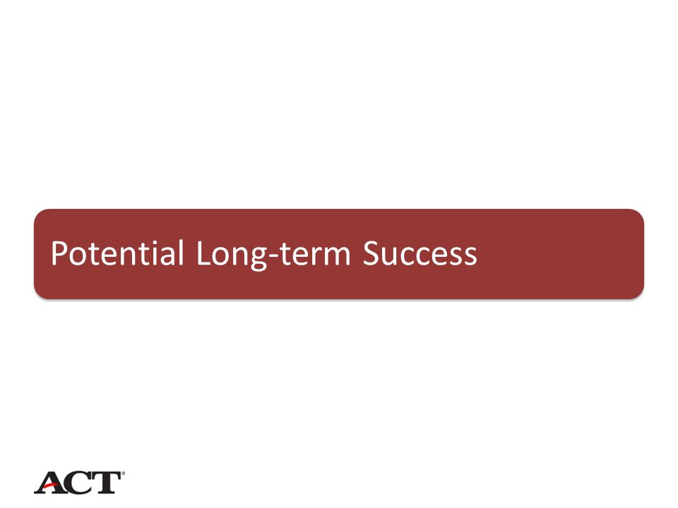Potential Long-term Success