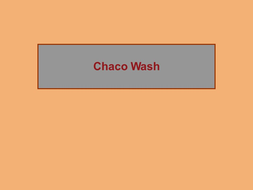 The Rise of Chaco Canyon Chaco Wash