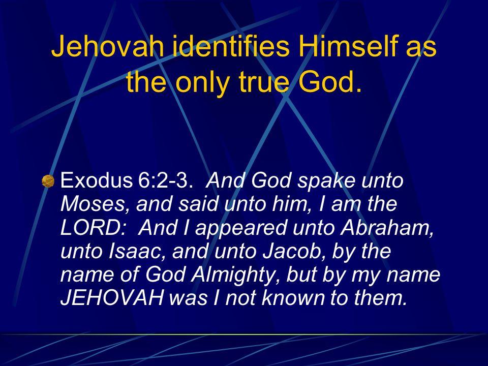 No other gods… Exodus 20:3-5 Thou shalt have no other gods before me.