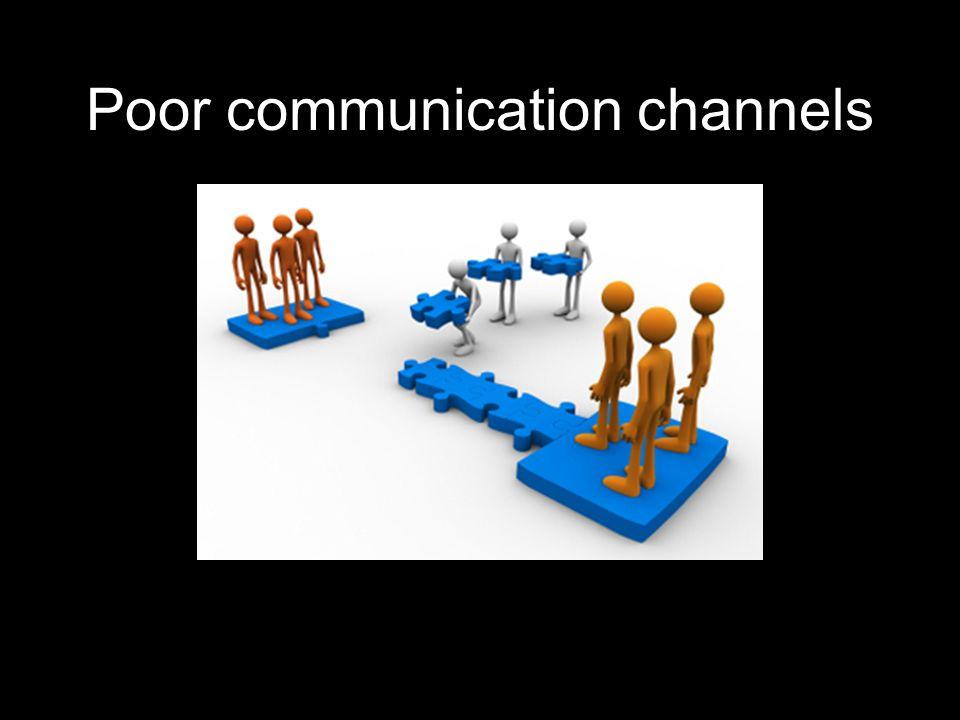 Poor communication channels