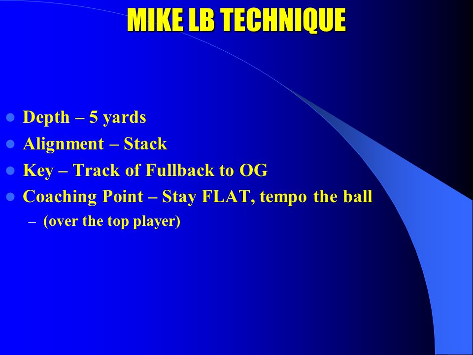 KEY DRILL FOR ROB/LOU COACH LB LB C T T