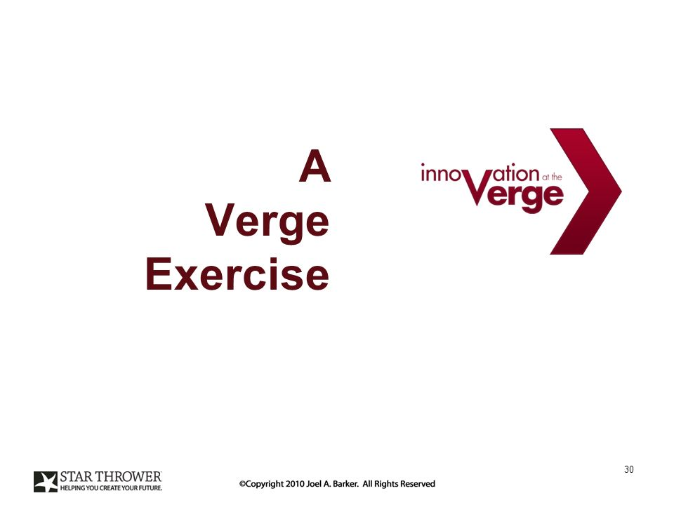 A Verge Exercise 30