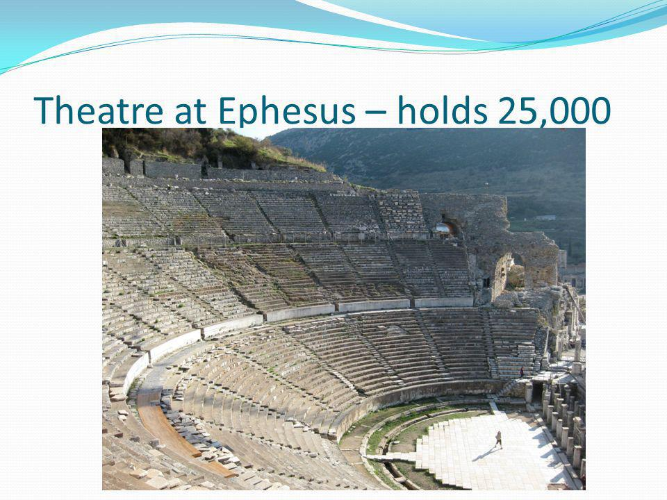 Ephesus (Cont.) One of the most advanced aqueduct systems in the ancient world, Jonah 4:11 But Nineveh has more than a hundred and twenty thousand people who cannot tell their right hand from their left, and many cattle as well.